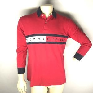 Vintage Tommy Hilfiger Long Sleeve Polo Shirt